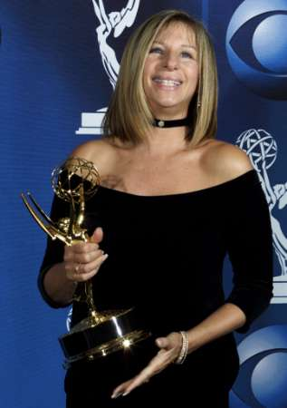 Barbra at the 2001 Emmy Awards with her Emmy